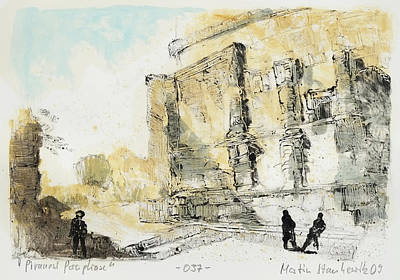 Painting - Piranesi Paraphrase No.37 - View Of The Tomb Of The Plautii by Martin Stankewitz
