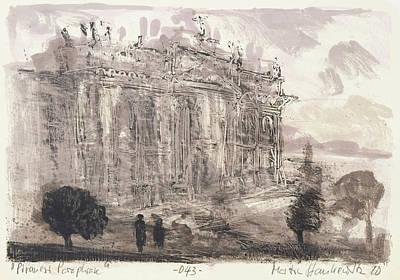 Painting - Piranesi Paraphrase No.43,veduta Della Faciata Della Basilica Di S. Giovanni by Martin Stankewitz