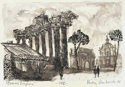 Painting - Piranesi Paraphrase No.55 , Temple Of Concordia by Martin Stankewitz