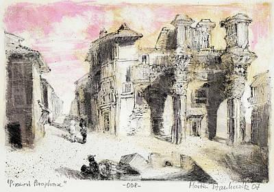 Painting - Piranesi Paraphrase No.8 Vedute Degli Avanzi Del Foro Di Nerva by Martin Stankewitz