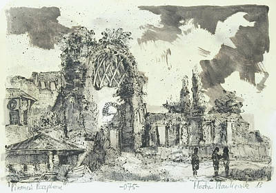 Painting - Piranesi Paraphrase Ruins Of The Golden House Of Nero by Martin Stankewitz