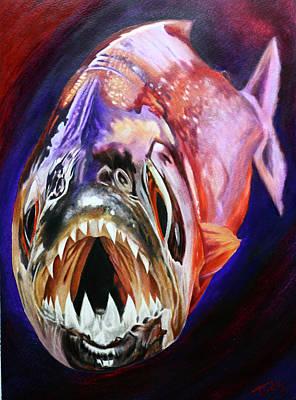 Piranha Painting - Piranha by Todo Brennan