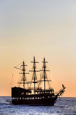 Pirate Boat Art Print by Joana Kruse