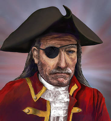 Painting - Pirate Captain by Rick Mosher