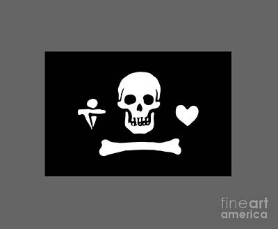 Pirate Flag Of Stede Bonnet Art Print by Frederick Holiday