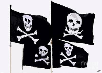 Pirate Flags Art Print by David Lee Thompson