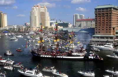Gasparilla Photograph - Pirate Invasion Tampa Bay  by David Lee Thompson