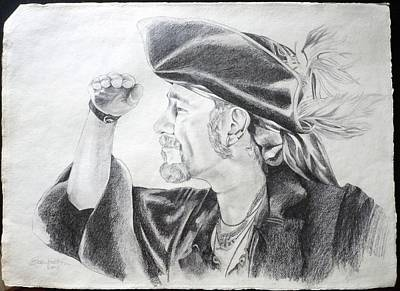 Drawing - Pirate Mikey Portrait Drawing by Shelley Overton