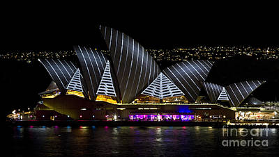Photograph - Pirate Sails - Sydney Opera House - Vivid Festival - Australia by Bryan Freeman