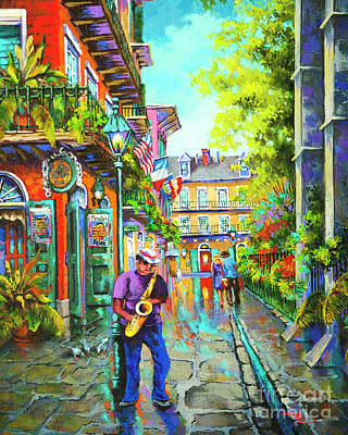 Streetscenes Painting - Pirate Sax  by Dianne Parks
