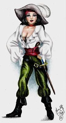 Pirate Art Print by Scarlett Royal