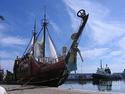 Art Print featuring the photograph Pirate Ship - Sousse Harbour by Maciek Froncisz