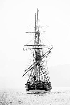 Photograph - Pirate Ship Black And White by Athena Mckinzie