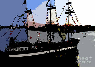Pirate Ship Painting - Pirate Ship by David Lee Thompson