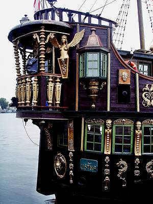 Photograph - Pirate Ship In Gdansk 02 by Dora Hathazi Mendes