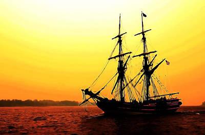 Photograph - Pirate Ship Sunset by Athena Mckinzie
