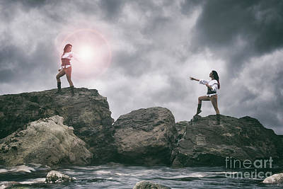 Photograph - Pirate Sisters by Clayton Bastiani