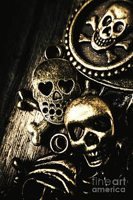 Skull Photograph - Pirate Treasure by Jorgo Photography - Wall Art Gallery
