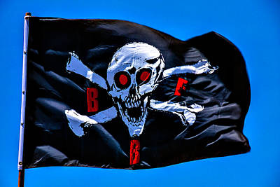Photograph - Pirate War Flag by Garry Gay