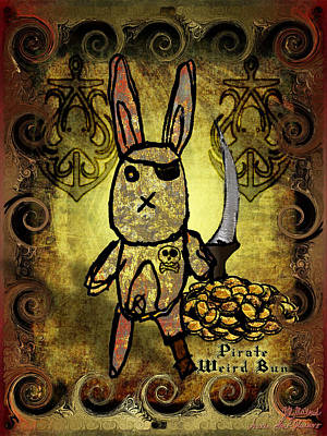 Digital Art - Pirate Weird Bun by Iowan SF and Ntr HMM
