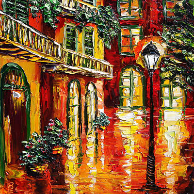 New Orleans Oil Painting - Pirate's Alley by Beata Sasik