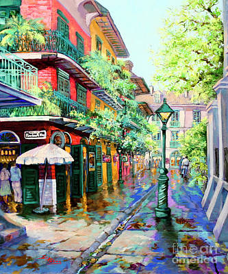 Bar Scene Painting - Pirates Alley - French Quarter Alley by Dianne Parks