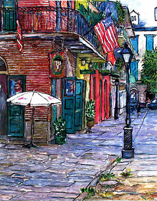 Pat O Briens Painting - Pirates Alley by John Boles