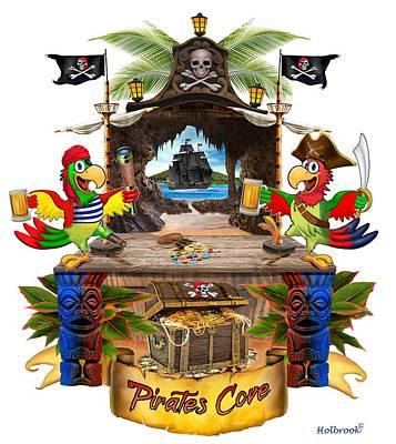 Digital Art - Pirates Cove by Glenn Holbrook
