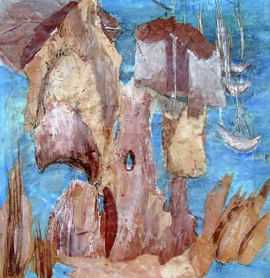 Mountainous Mixed Media - Pirate's Cove by Inge Wright