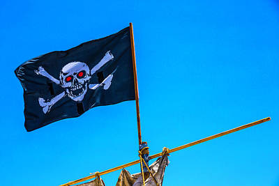 Photograph - Pirates Death Black Flag by Garry Gay