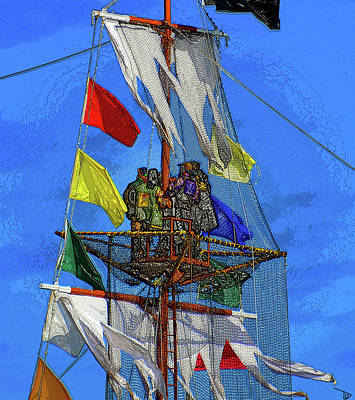 Painting - Pirates In The Nest by David Lee Thompson