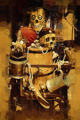 Pirates Loot Art Print by Clarence Alford
