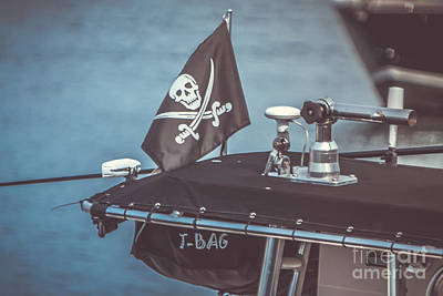 Piracy Jolly Roger Bones Danger Photograph - Pirates Of Gloucester by Claudia M Photography