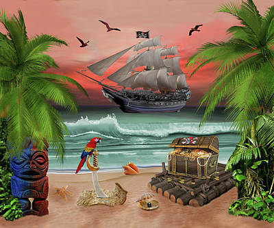 Digital Art - Pirates Treasure Quest by Glenn Holbrook