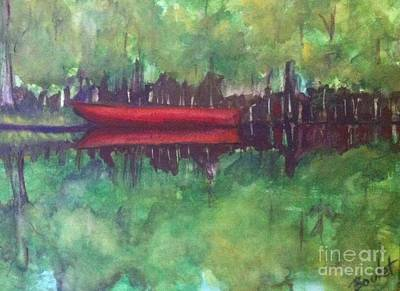 Painting - Pirogue On Bayou Lafourche by Beverly Boulet