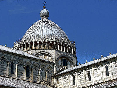 Photograph - Pisa Cathedral Dome by Debbie Oppermann