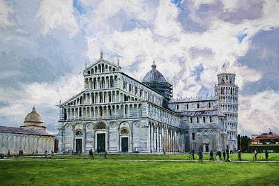 Digital Art - Pisa Cathedral by The Art House