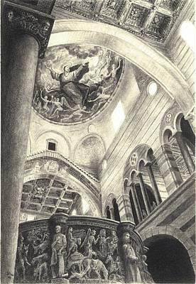 Drawing - Pisa Duomo by Norman Bean