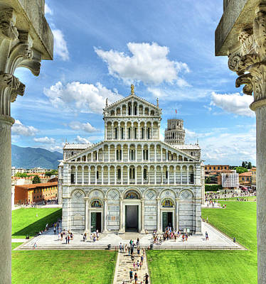 Photograph - Pisa - Leaning Tower Behind Duomo by Weston Westmoreland