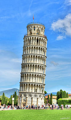 Pendente Photograph - Pisa - Straight Tower On A Leaning World by Weston Westmoreland
