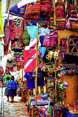 Photograph - Pisac Market by Maria Coulson