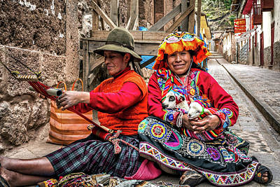 Photograph - Pisac's Women by Maria Coulson
