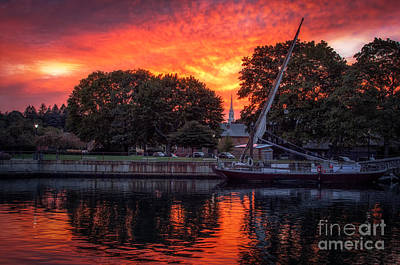 Prescott Park Photograph - Piscataqua And The Church by Scott Thorp