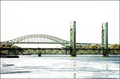 Photograph - Piscataqua River Bridges by Mark Alesse