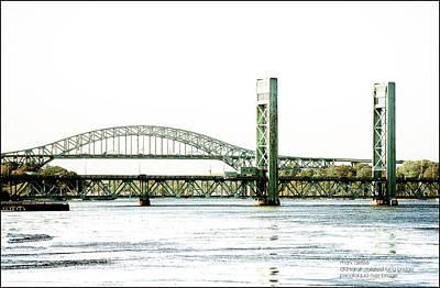 Photograph - Piscataqua River Bridges by Mark Alesse