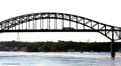 Photograph - Piscataqua River - Maine Turnpike Bridge by Mark Alesse