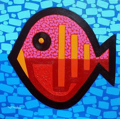 Tropical Fish Painting - Pisces 4 by John  Nolan