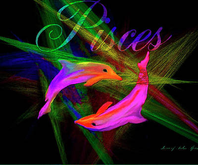 Digital Art - Pisces, By Sherr's Of Palm Springs by Sherri's - Of Palm Springs