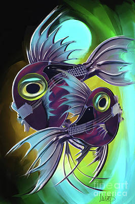 Horoscope Painting - Pisces by Melanie D