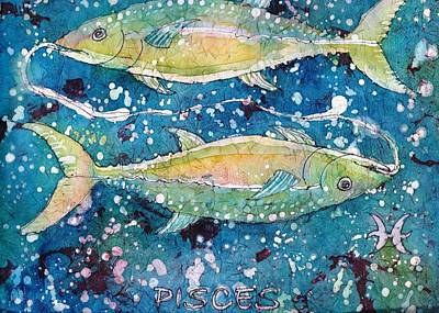 Painting - Pisces by Ruth Kamenev